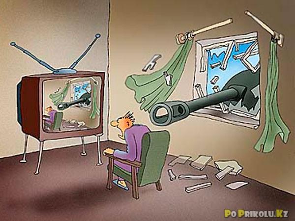 Телевизор смешная картинка, марта картинки рисованные